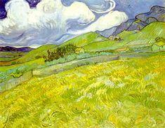 Mountainous Landscape Behind Saint-Paul Hospital - Vincent van Gogh Van Gogh Art, Art Van, Pick Art, Famous Artwork, Modern Canvas Art, Van Gogh Museum, Van Gogh Paintings, Post Impressionism, Oil Painting Reproductions