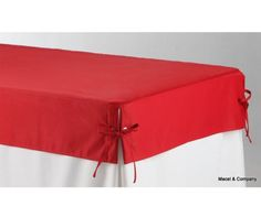 Premium Tablecloth Topper for 8 ft Table (Red)