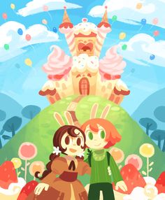 Cucumber Quest. Neither an Anime or Manga, really is a webcomic, but the art is so cute ^^;