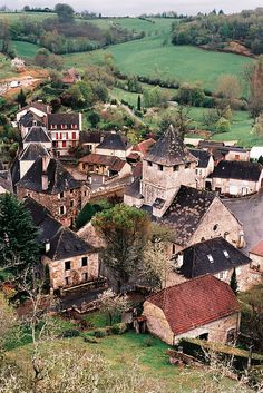 Sarrazac, France... by do the astral plane, via Flickr - If you click on the image and go back to the original you get such an amazing view of this village. You almost want to wave to the villagers. just amazing!