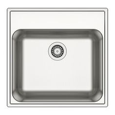 IKEA - BOHOLMEN, Single-bowl inset sink, 25-year Limited Warranty. Read about the terms in the Limited Warranty brochure.