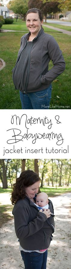 Easy DIY Reversible Maternity and Babywearing Jacket Insert Tutorial                                                                                                                                                                                 More