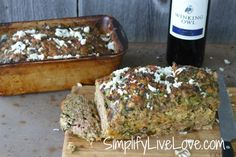 Spinach Mozzarella Meatloaf - Page 2 of 2 - Simplify, Live, Love  I'm going to make this tonight and freeze one as well!