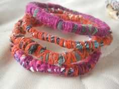 fabric bracelets by Love Fabric