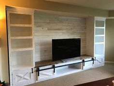 It is not that hard to find a great home entertainment center for your home. You can decide what space … Built In Media Center, Living Room Entertainment Center, Entertainment Ideas, Custom Entertainment Center, Entertainment Center Makeover, Basement Apartment Decor, Small Basement Apartments, Tiny Apartments, Home Design