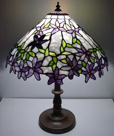 """Clematis"" Lamp by Japanese glass artist Tashiro. More"