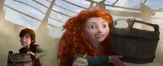 Hiccup and Merida in dragon training. Hahaha, love their expressions.