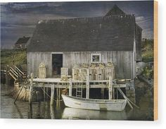 Peggys Cove Fishing Village Wood Print by Randall Nyhof. All wood prints are professionally printed, packaged, and shipped within 3 - 4 business days and delivered ready-to-hang on your wall. Choose from multiple sizes and mounting options. Sea Fishing, Going Fishing, Fishing Boats, Fishing Trips, Saltwater Fishing, Sport Fishing, Fishing Games, Fishing Shack, Alaska Fishing