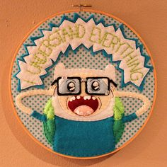 More Adventure Time Hoops! (Finn & Party Pat) - NEEDLEWORK  I must try my hand at this