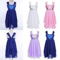 Girl's Ballet Dance Leotard Dress. Adjustable ruched shoulder straps, shiny sequins top bodice. 2