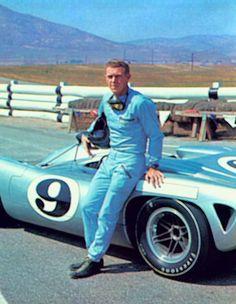Steve #McQueen #Riverside Raceway with the #Lola T-70