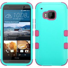 MYBAT HTC One M9 Case TUFF Hybrid Series - Teal Green/Pink