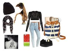 """""""Jeans for Genes day @school"""" by calistajensein ❤ liked on Polyvore featuring Refuge, Balmain, Converse, Kate Spade, Accessorize, Ray-Ban, Forever 21, Beats by Dr. Dre and Arizona"""