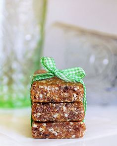 Copycat Larabars: save $$ and calories by making your own version of the popular snack bars. It's so easy, and this way you can have whatever flavors you want! (There are a ton of flavor suggestions listed in the post.)