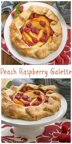 A rustic dessert, this sublime Peach Raspberry Galette features our favorite combination of summer fruit! Plus it's such a simple, impressive dessert! Tart Recipes, Fruit Recipes, Baking Recipes, Dessert Recipes, Raspberry Recipes, Kitchen Recipes, Beef Recipes, Delicious Desserts, Cake