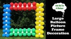 Large Balloon Picture Frame Decoration