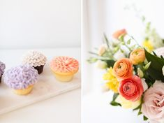 My 3rd Blogiversary + 10 Things I Learned in my Third Year of Blogging | Lavender and Blush Garden Cupcakes and Cheerful Spring Flowers | A Pantone Spring 2018 Inspired Birthday Celebration // JustineCelina.com Garden Cupcakes, Mini Cupcakes, Green Eyes Pop, Bite Beauty Amuse Bouche, Soft Corals, Live Coral, Color Of The Year, Beauty Routines, Birthday Celebration