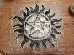 Supernatural protection symbol perler beads by karintel on deviantART