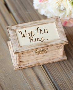 """Wedding ring box """"With This ring"""""""