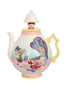 35 ounce ceramic teapot with Alice in Wonderland design.