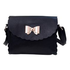 Retro Style Women's Crossbody Bag With Ruffles and Bowknot Design Cheap Crossbody Bags, Retro Fashion, Womens Fashion, Black Cross Body Bag, Online Bags, Cross Body Handbags, Fashion Bags, Shopping Bag, Ruffles