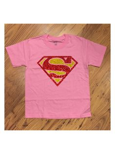 Super Girl Glittery Super Hero Pink T-Shirt Super Kid Tee Hero SuperHero SuperGirl Girly Great for Birthday or Just for Fun by OhioCityTees on Etsy https://www.etsy.com/listing/250868671/super-girl-glittery-super-hero-pink-t