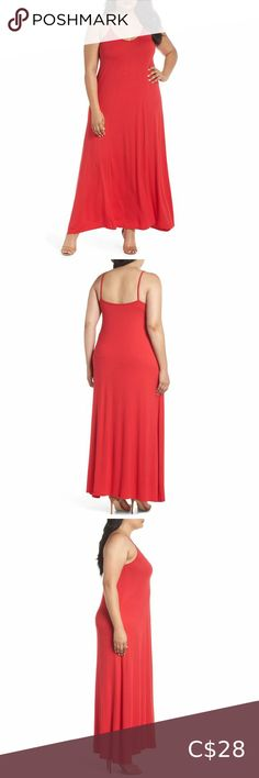 """NWT Loveappella Red Maxi Dress NWT Red Maxi Dress by Loveappella from Nordstrom. Perfect Christmas dress. Very Stretchy for easy fitting. Retailed for $68 USD ($92 CAD) Size: 1X Measurements: Armpit to armpit: 22"""" Length: 60"""" Material: 95% Rayon, 5% Spandex Condition: NWT Red maxi dress by Loveappella. Loveappella Dresses Maxi Red Maxi, Plus Fashion, Fashion Tips, Fashion Trends, Dress Size Chart Women, Sheath Dress, Nordstrom, Spandex, Easy"""
