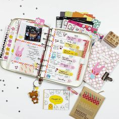 """c a n d i • b i l l m a n on Instagram: """"August Planner K I T from @findingnanashop  I can't get over all of the goodies!!! I even forgot a few items in this pic  Looks like these planner kits are still available!  First week of September is a wrap...well almost  #findingnanashop #findingnana #planner #planneraddict #plannerlove #lovedoki #rilakkuma #washitape #FNSPlannerKit #plannerkit"""""""