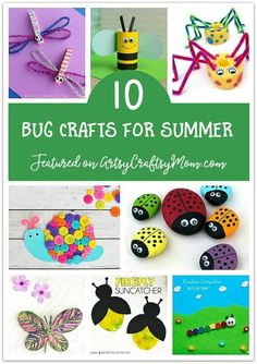Don't waste the summer wondering what to do? Check out our ultimate list of 100 summer activities for kids, including crafts, printables and more! Bug Activities, Summer Activities For Kids, Educational Activities, Toddler Activities, Insect Crafts, Bug Crafts, Crafts For Kids To Make, Art For Kids, Kid Art