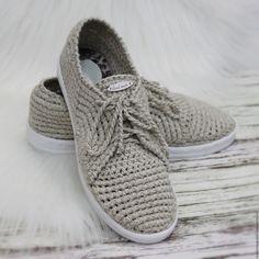 Купить Мокасины льняные вязаные - бежевый, мокасины льняные, льняная обувь, летняя обувь