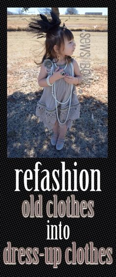 Just sew some lace or fringe to a slim top and you have your own flapper costume refashion