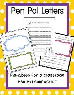 Pen Pal Letters Pack $4.00