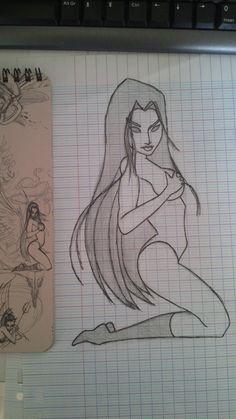 Voilà mon dessin et l'original!