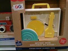 Going to get for PBS! I use to have one just like it! Its a fisher price throw back classic at barnes & noble for 37.00.