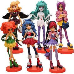 6PCS MONSTER HIGH ACTION FIGURES KIDS FIGURINES DOLL TOY CAKE TOPPER DECOR GIFT