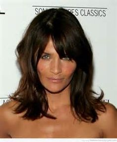 medium length hairstyles with bangs for women over 40 (1)