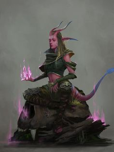 D D Characters, Fantasy Characters, Character Drawing, Character Concept, Character Portraits, Tiefling Female, Dnd Tiefling, D&d Online, Dungeons And Dragons Art