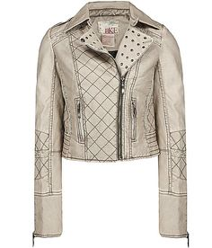 "white leather jacke. This is on my ""too buy"" list!!"