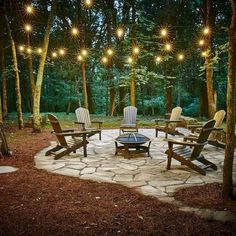 Rentals - Backyard landscaping -Cabin Creek Farm Rentals - Backyard landscaping - Awesome DIY Fire Pit Plans Ideas With Lighting in Frontyard Currently Crushing On.