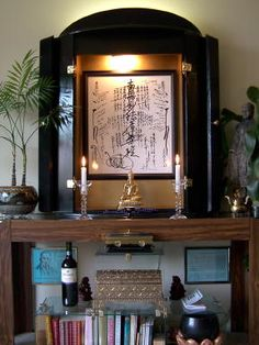 buddhist altars in the home | Don's home altar at the close of the 20th century: Dec 1999