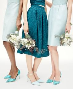 Crew Wedding Parties in blue and gingham shoes Blue Color Schemes, Wedding Color Schemes, Wedding Colors, Blue Bridesmaid Dresses, Wedding Dresses, Gingham Shoes, Color Inspiration, Wedding Inspiration, Turquoise Weddings