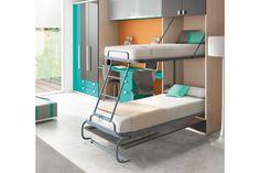 dos camas abatibles en una