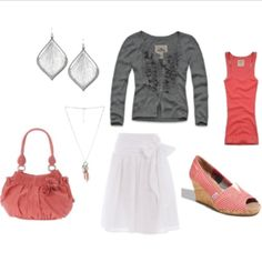 Casual and flirty with a little bit of classic style in the skirt and sweater.