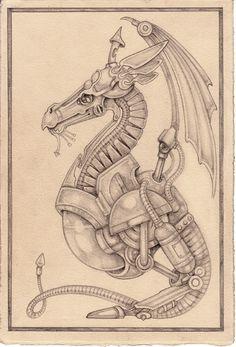 steampunk dragon