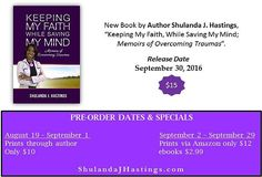 "New #book, ""Keeping My Faith While Saving My #Mind"". by #author Shulanda J. Hastings"