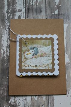 Beatrix Potter Get Well Tea Bag Card by AllOnAHeartString on Etsy