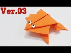 Easy origami - How to make a jumming frog ver.3 #folding #craft # diy