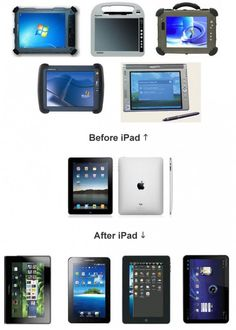 Before iPad. After iPad.