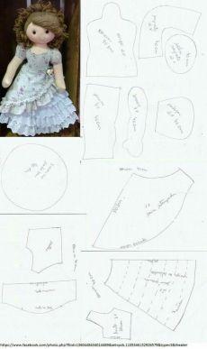 PDF doll body Cloth Doll Pattern PDF Sewing Tutorial+ Pattern Soft Doll Pattern sewing dolls, cloth doll, make a doll, make doll body Doll Sewing Patterns, Doll Dress Patterns, Sewing Dolls, Doll Crafts, Diy Doll, Felt Dolls, Crochet Dolls, Doll Tutorial, Stuffed Toys Patterns