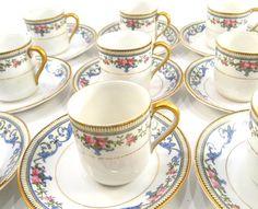 Vintage Noritake Chanlake Demitasse Set 10 Cups and Saucers